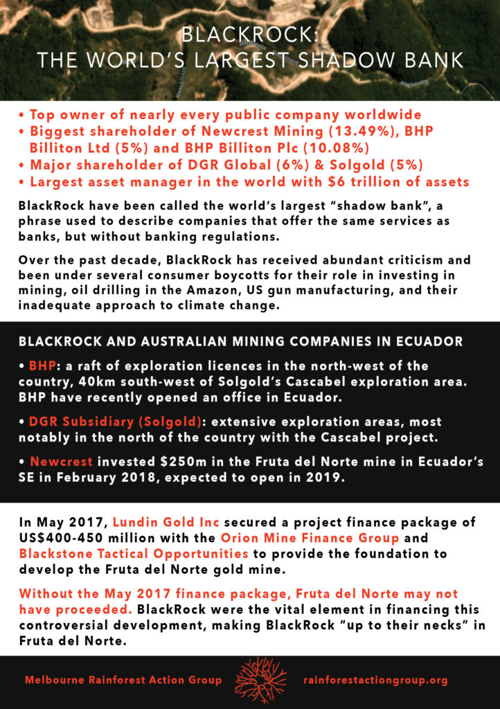 BlackRock - Rainforest Action Group