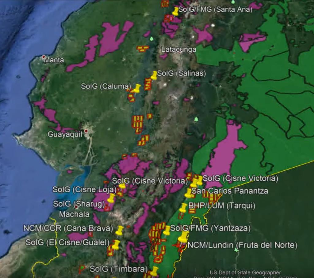 SolGold se une a Rinehart con problemas en Ecuador