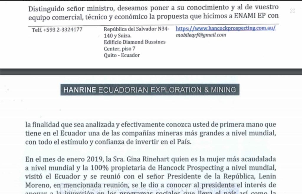 HPPL offer for Llurimagua